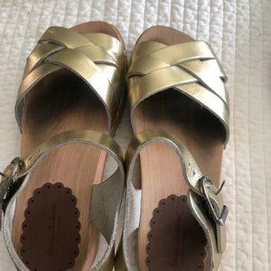 Swedish clogs sandals girls size 4